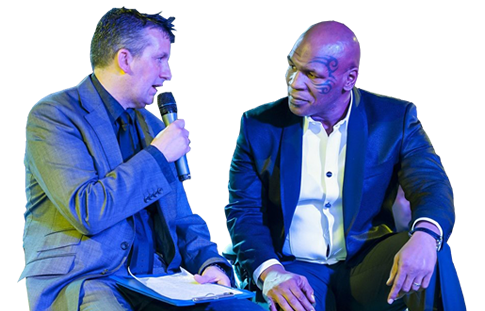 Pete Emmett with Martin Offiah
